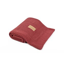 Organic Knitted Blanket (Brick)