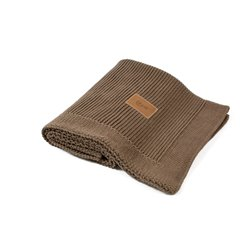 Organic Knitted Blanket (Brown)