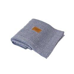 Organic Knitted Blanket (Dark Melange)