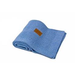 Organic Knitted Blanket (Denim)