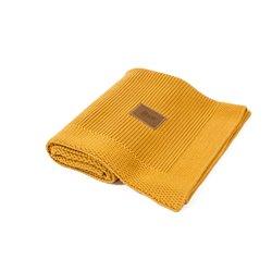 Organic Knitted Blanket (Honey)