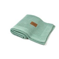 Organic Knitted Blanket (Pepper Mint)