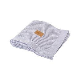 Organic Knitted Blanket (Light Grey)