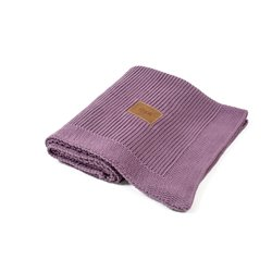 Organic Knitted Blanket (Violet)