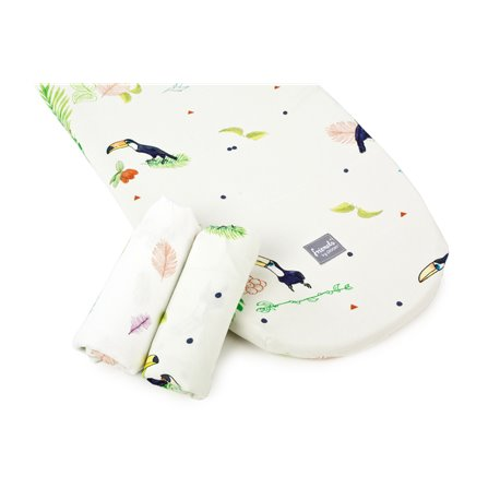 2-pack stroller sheets (Tucan & Leaves)