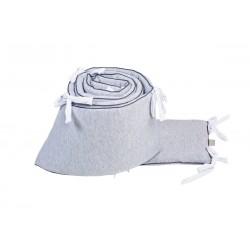 Crib Bumper (420x28 cm with White fasteners)